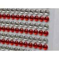 Self-adhesive crystals 4 mm ruby/pure - 0020 Emb